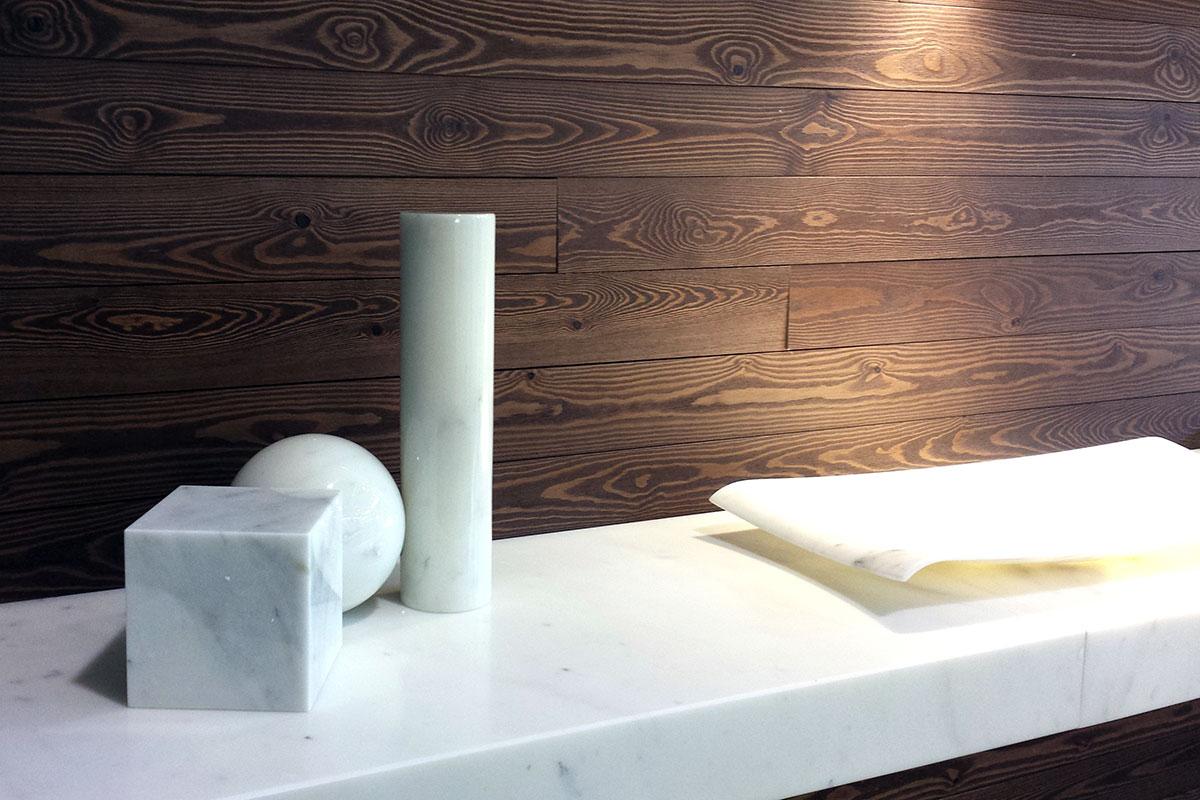 Parete cubi e mensole ikea - Rivestimenti legno interni ...