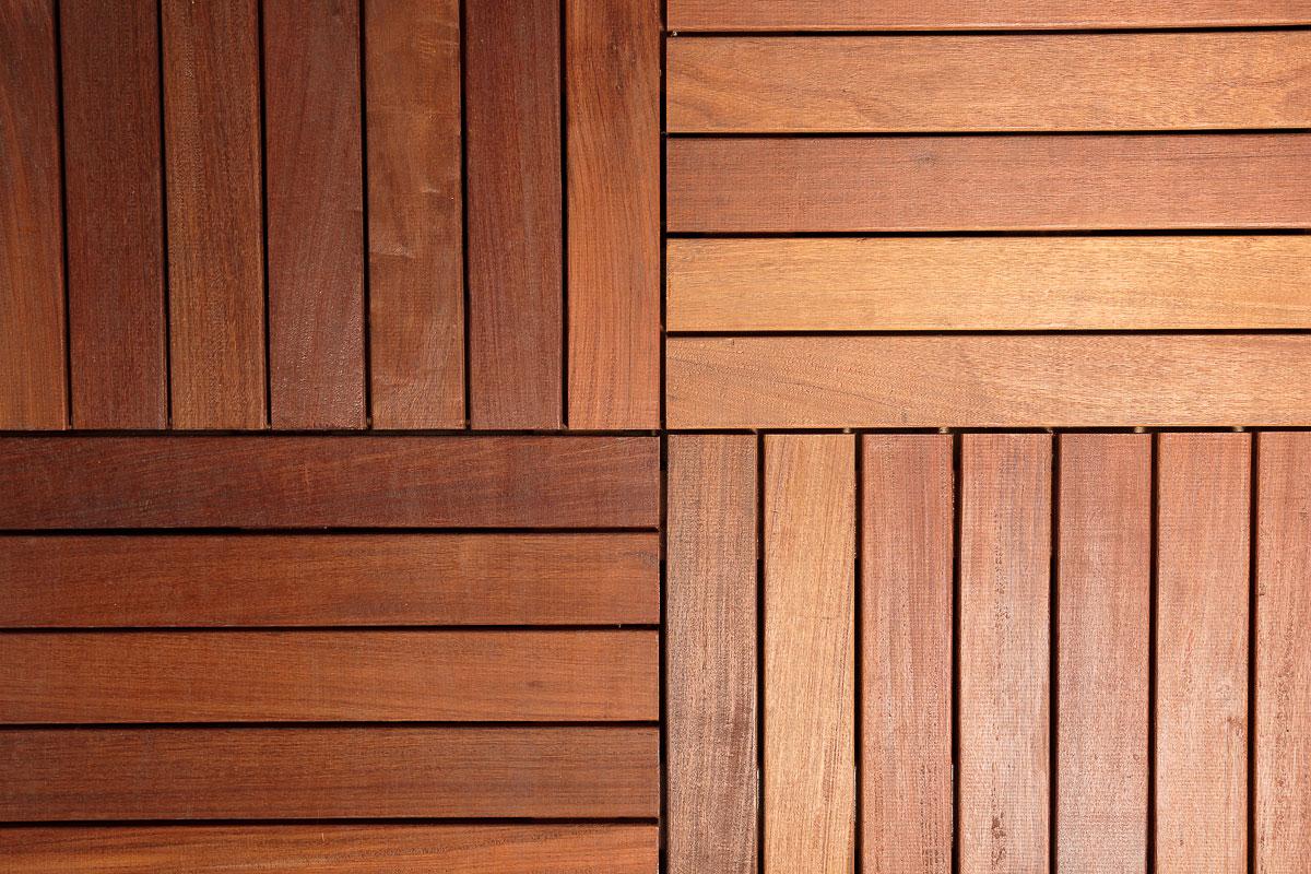Mattonella in legno per decking