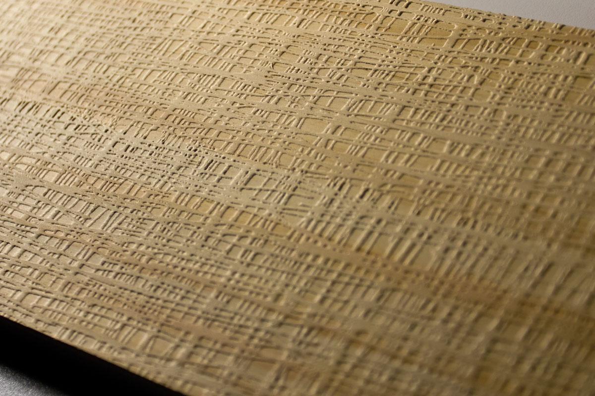 Perlina in legno con effetto rete
