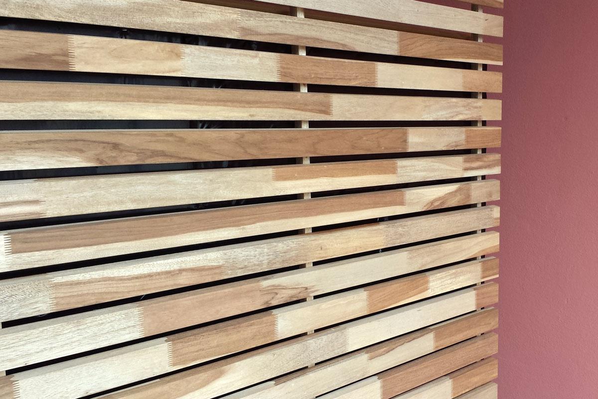 Profili in legno per frangisole