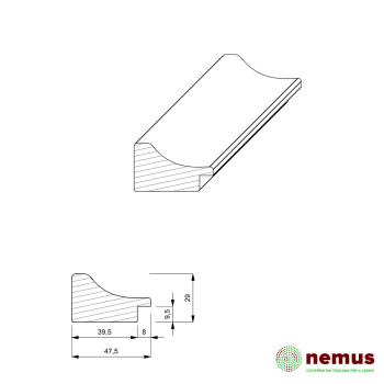 Profilo cornici 0164 10