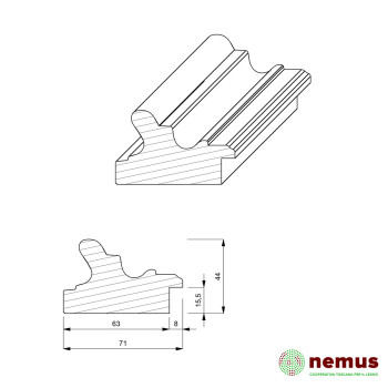 Profilo cornici 0228 10